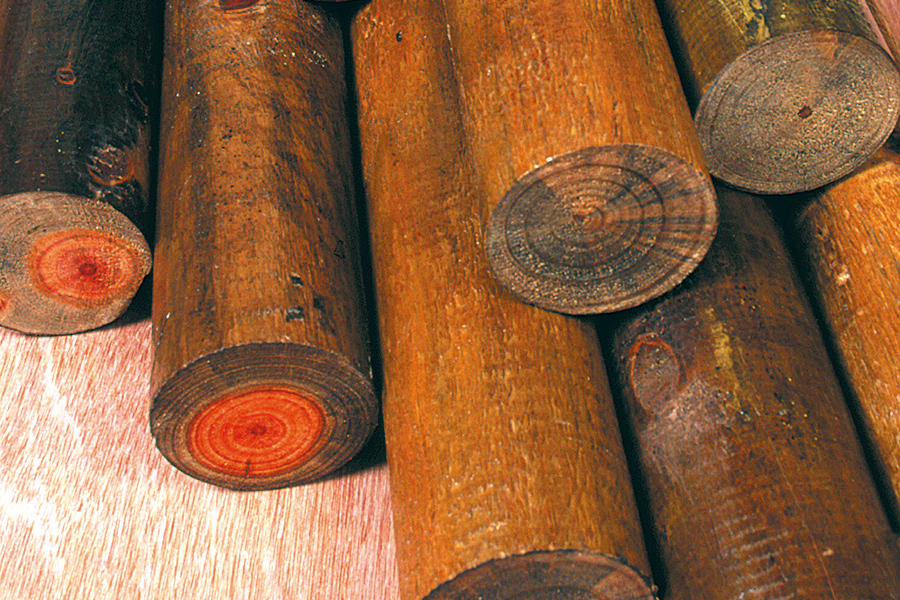 Turned Redwood Posts - Africa Roofing