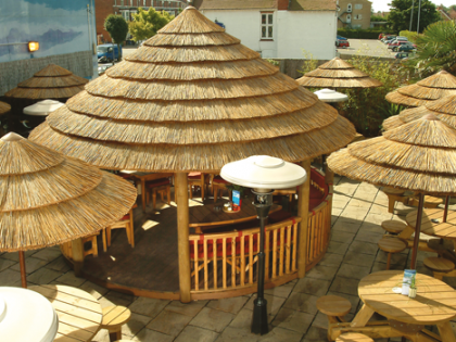 Thatched Umbrellas, Tiki Bar Covers, Tropical Parasols and more