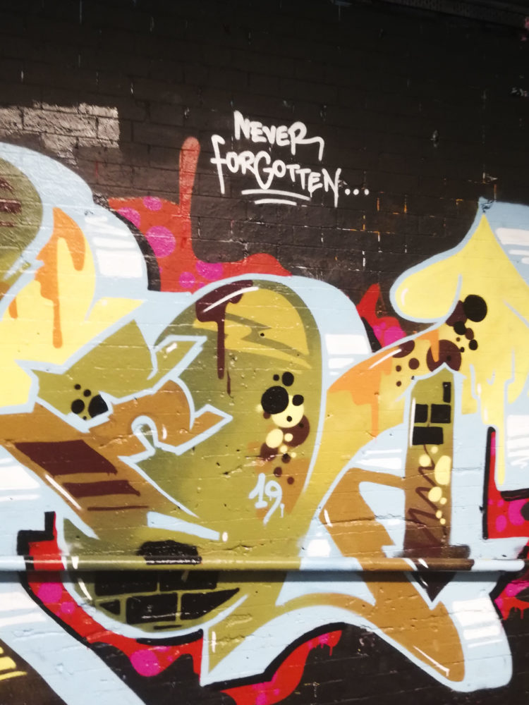 MandelaExhibition LeakStreetTunnel'sGraffiti