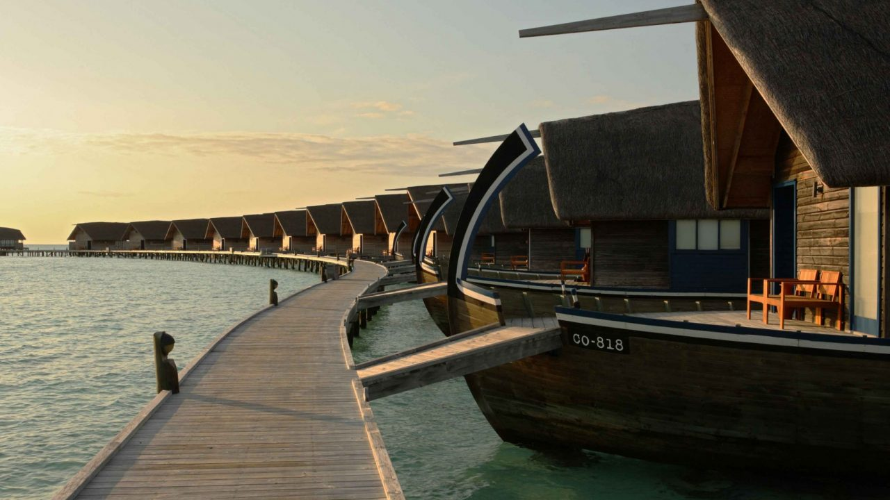 Como Cocoa Island, Maldives water dhoni villa 2. Thatching provided by Africa Roofing