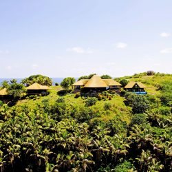 Fregate Island, Seychelles accommodation banyan hill 2. Thatching provided by Africa Roofing