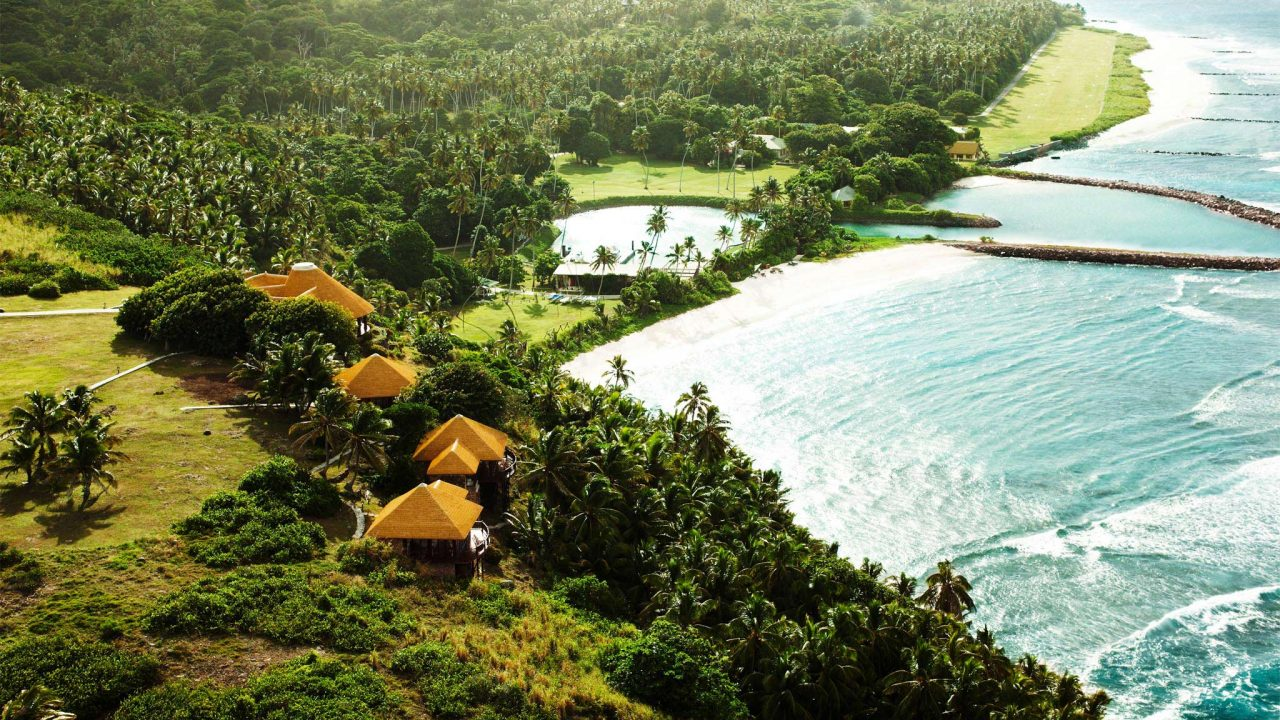 Fregate Island, Seychelles accommodation banyan hill 7. Thatching provided by Africa Roofing