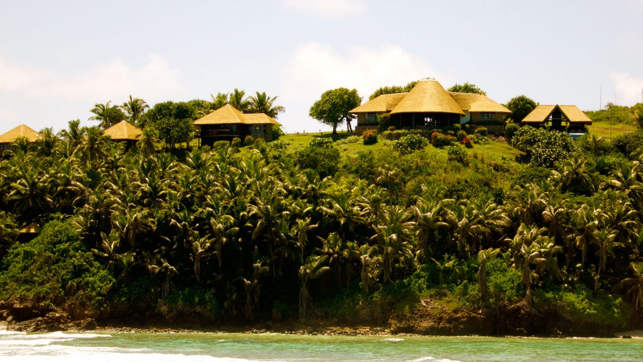 Fregate Island, Seychelles accommodation banyan hill 8. Thatching provided by Africa Roofing