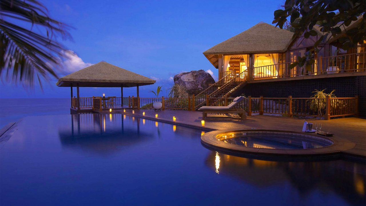 Fregate Island, Seychelles accommodation residences 11. Thatching provided by Africa Roofing
