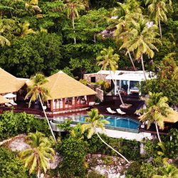 Fregate Island, Seychelles accommodation residences 14. Thatching provided by Africa Roofing