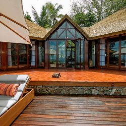 Fregate Island, Seychelles accommodation residences 8. Thatching provided by Africa Roofing
