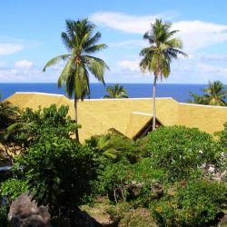 Fregate Island, Seychelles private main complex. Thatching provided by Africa Roofing